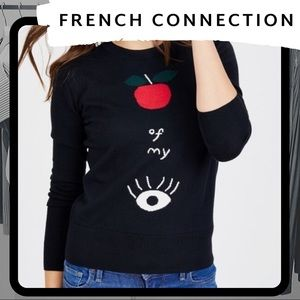 🐰 NWOT French Connection Apple of my Eye Sweater